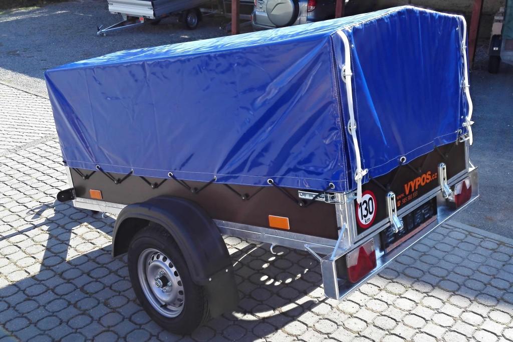 2100×1150, 750 kg – s plachtou 750 mm modrá 2+