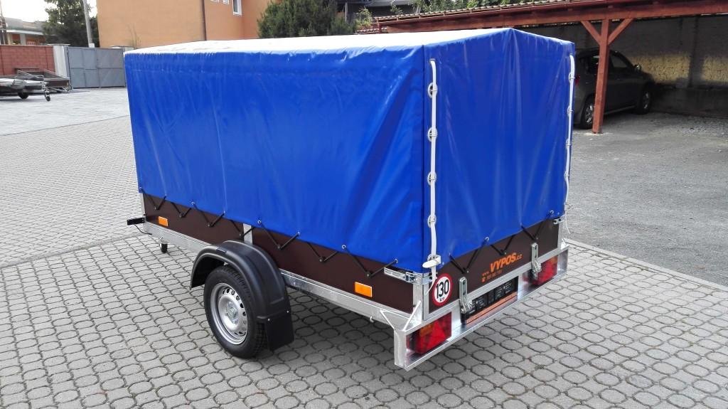 2560×1350, 750 kg, reling, s plachtou 1300mm – modrá+