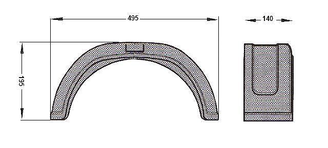 Blatník Al-ko plast. 140 mm, 8-1