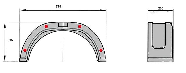 Blatník Al-ko plast. 200 mm-1