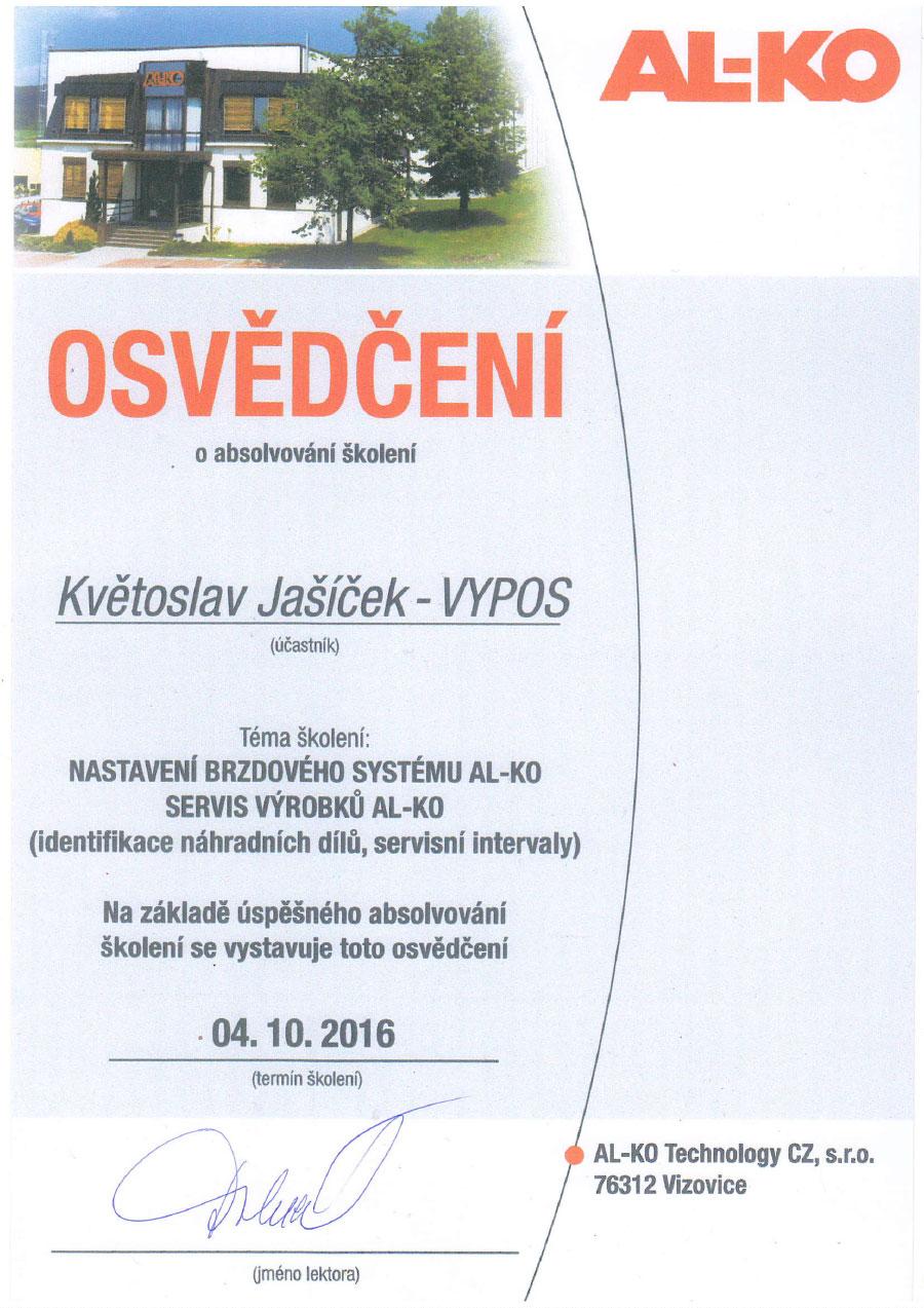 Certifikát AL-KO