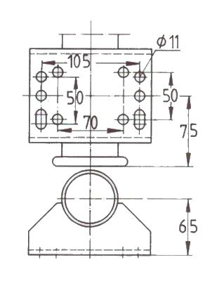 Kolečko opěrné automat. WW VK 60-BH-200 VBB 250 kg – nákres