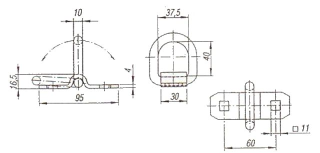 Kotvící oko třmenové (1500kg), na 2 šrouby-1