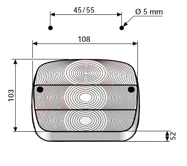 Kryt světla Aj.ba FP 11, rozměry