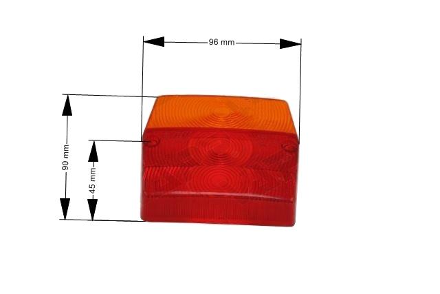 Kryt světla Fristom MD 2, rozměry