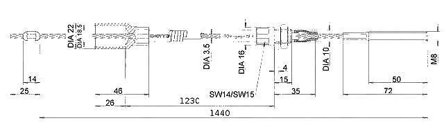 Lanovod Knott H-1230-1