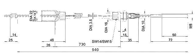 Lanovod Knott H-730-1