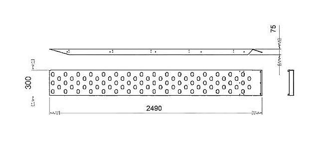 Nájezdy ocel. zink.,1300kg, 2500mm-1