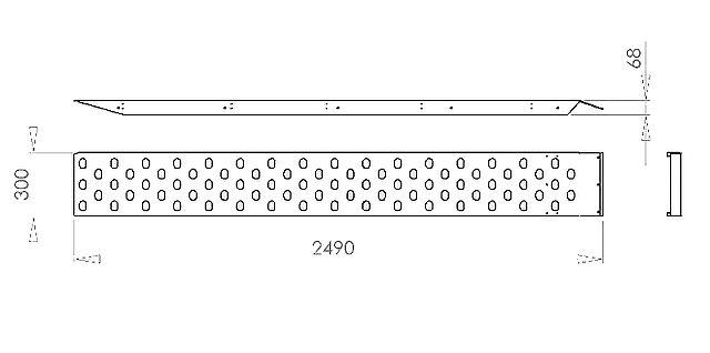 Nájezdy ocel. zink.,500kg-1