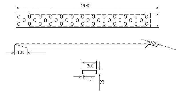 Nájezdy ocelové zinkované, 500 kg, délka 2000 mm-1