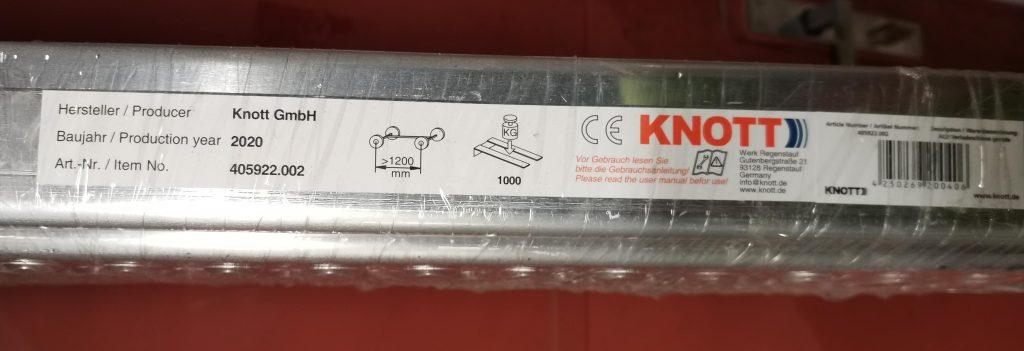 Nájezd hliníkový 1000 kg, 2m, popis