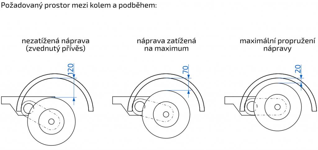 Náprava nebržděná Al-ko, OPTIMA, 750 kg, 100×4, a=1400 mm, nákres propružení