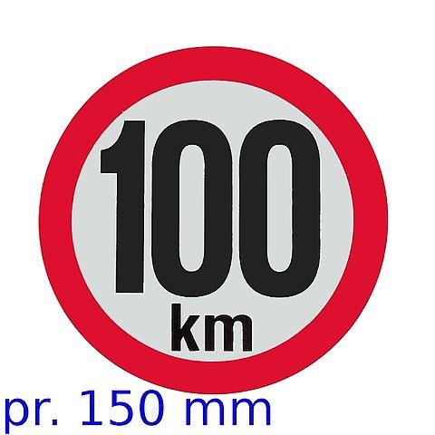 Označení rychlosti 100 kmh
