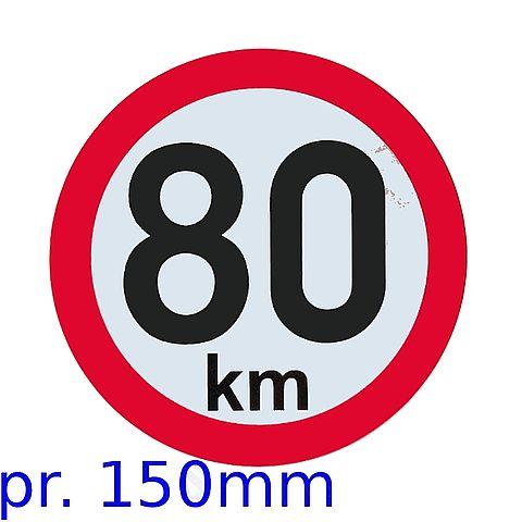 Označení rychlosti 80 kmh