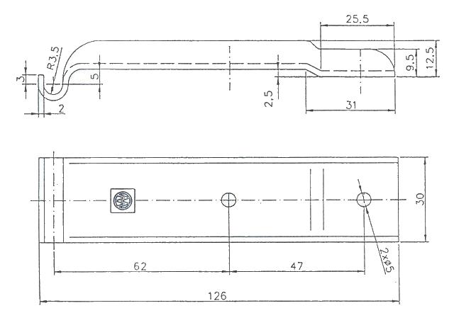 Protikus uzávěru BVG 10-B vyhnutý, nákres