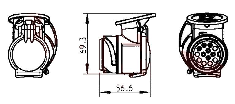 Redukce-13_7-pin-JAEGER, nákres