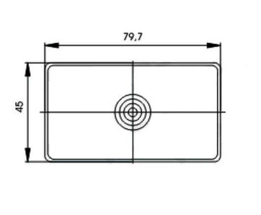 Sklo svítilny GMAK G17 přední obrysové, rozměry