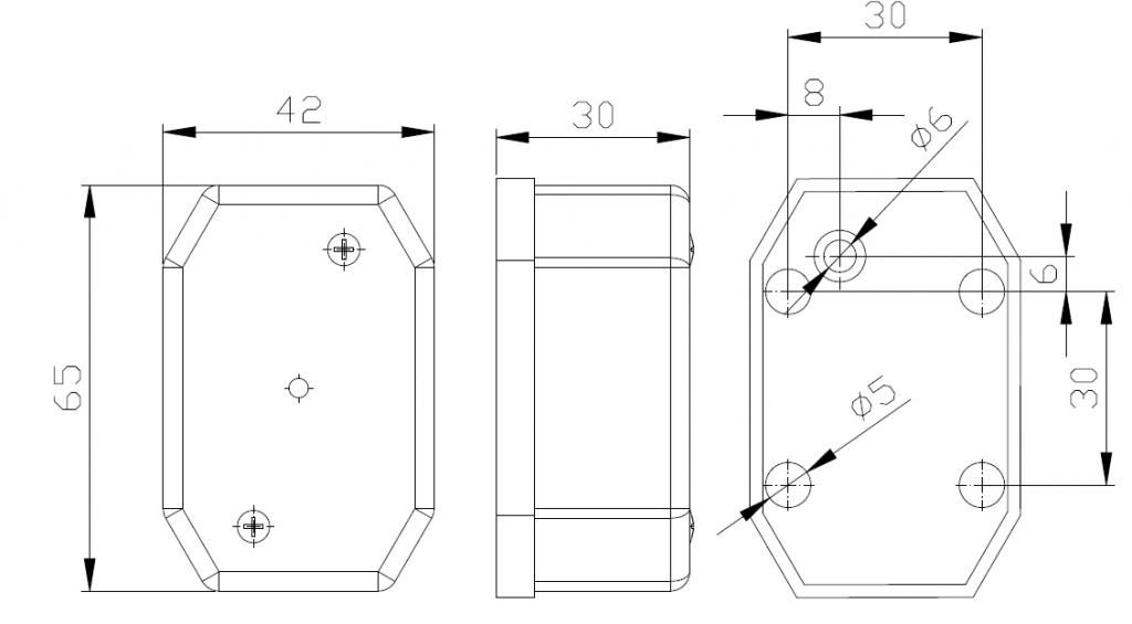 Světlo poziční Fristom FT-001 B s odrazkou (Flexipoint)
