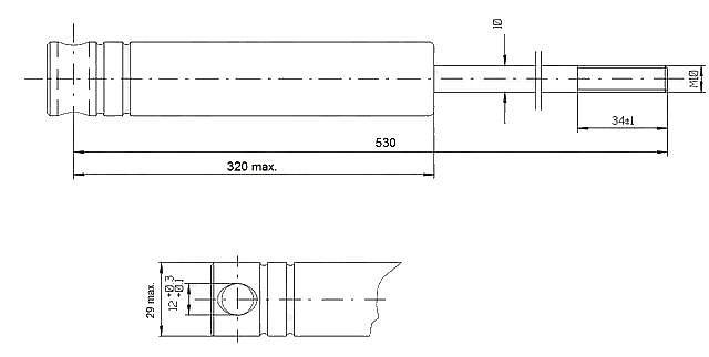 Tlumič brzdy Knott KF 13C-1