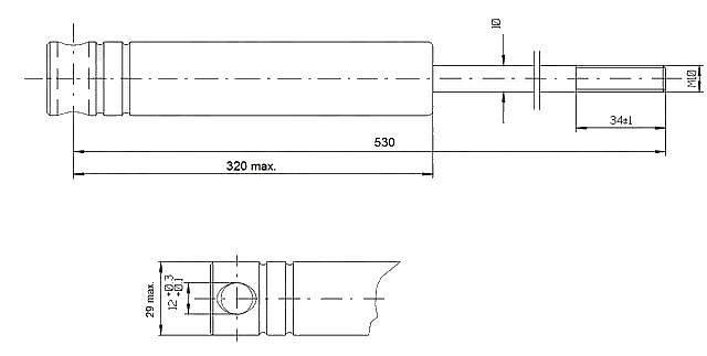 Tlumič brzdy Knott KF 17C – KF 20A-1