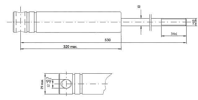 Tlumič brzdy Knott KF 27A (M12)-1