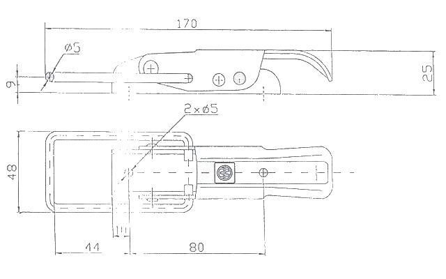 Uzávěr bočnice Winterhoff bez pojistky BV 10-2, nákres