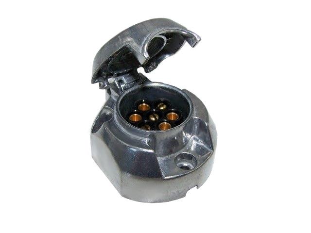 Zásuvka 12 V, 7-pin, kovová
