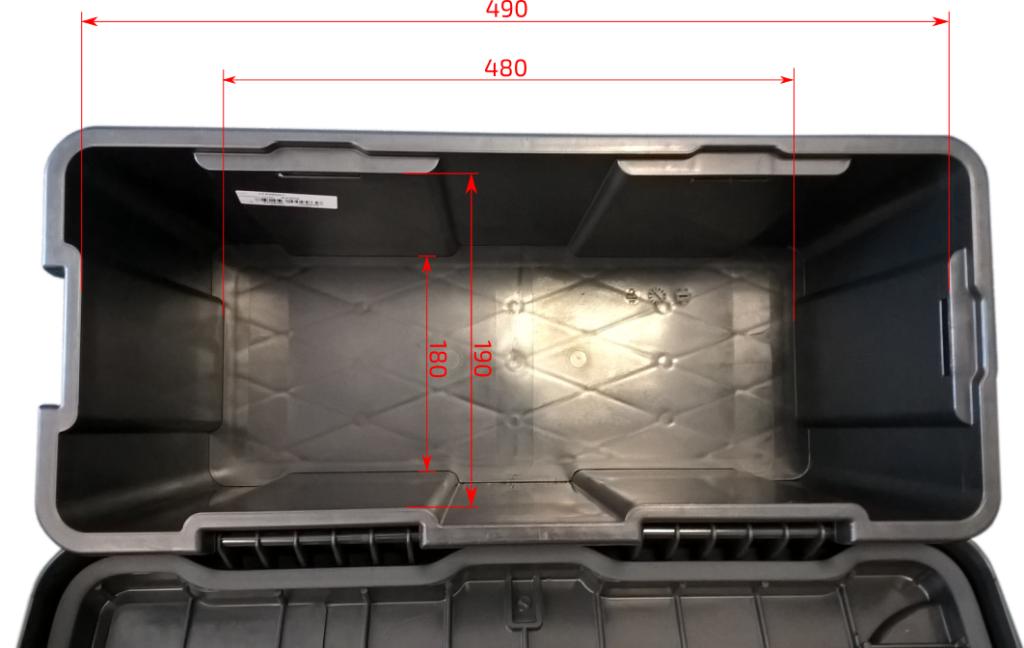 Box na nářadí BLACKIT II, 550x250x294 mm, rozměry vnitřní
