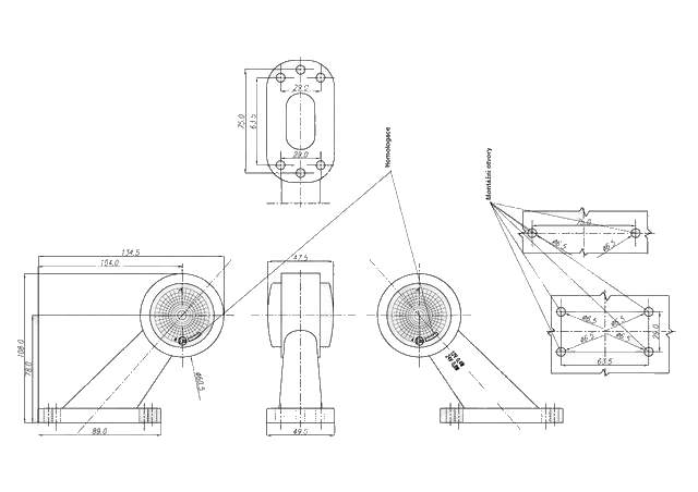 Svítilna doplňková obrysová LED WAS W21.7RF 299BC, 12-24V, levá 108 mm, obr.3 – nákres