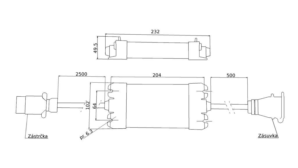 Kontrolbox Fristom ALU SMART 12V (13pin, 7 funkcí), nákres