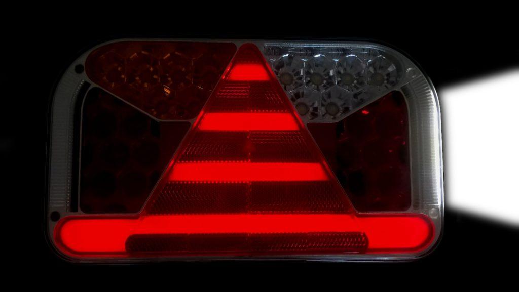 Světlo koncové Fristom FT-170 sdružená LED 12-24V, LEVÉ, kabel 1m, rozsvícené