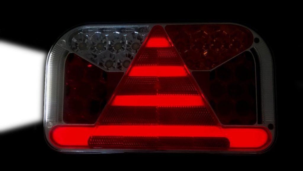 Světlo koncové Fristom FT-170 sdružená LED 12-24V, PRAVÉ, kabel 1m, rozsvícené