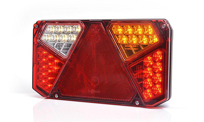 Světlo koncové WAS W125DP-916 sdružená LED 12-24V Pravé, kabel 2m , obr.1