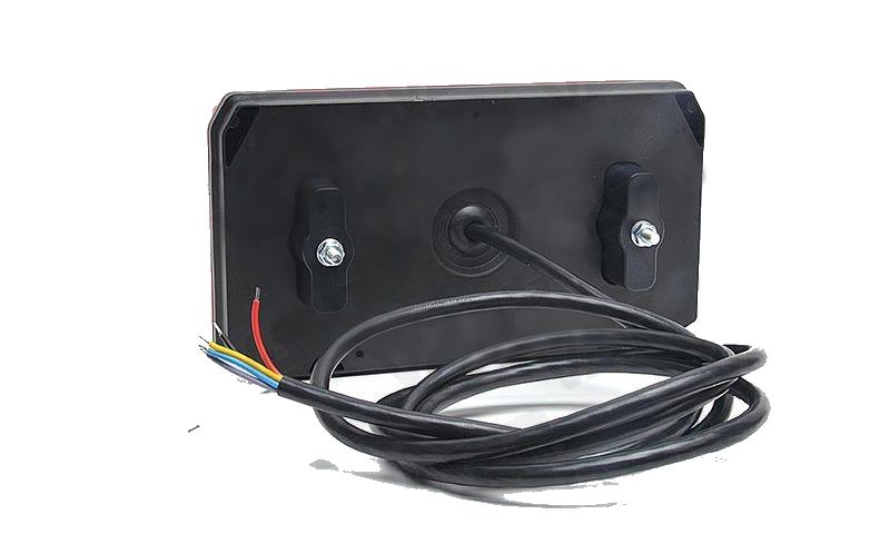 Světlo koncové WAS W125DP-916 sdružená LED 12-24V Pravé, kabel 2m , obr.5