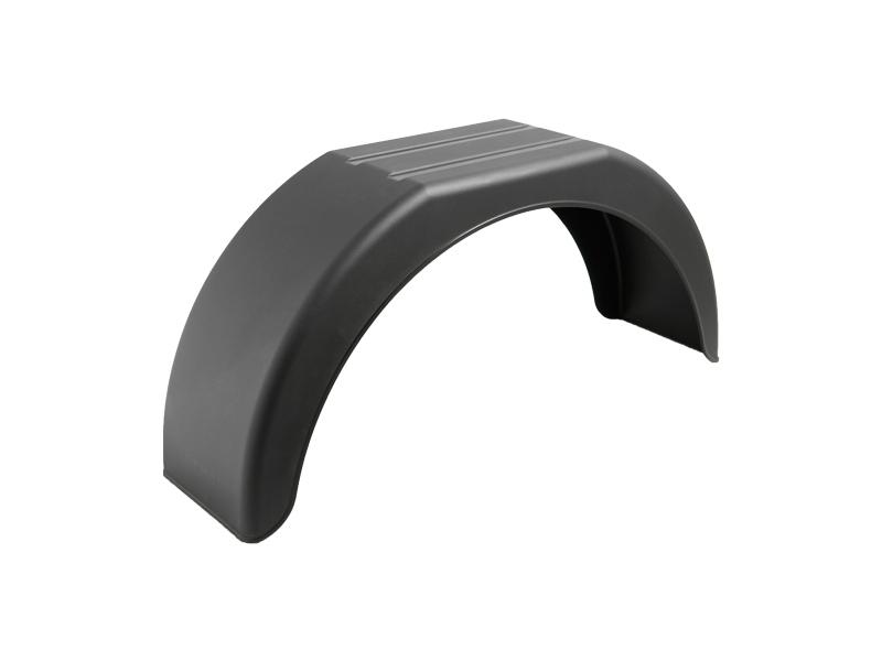 Blatník plastový DOMAR, š. 220 mm, černý, lomený
