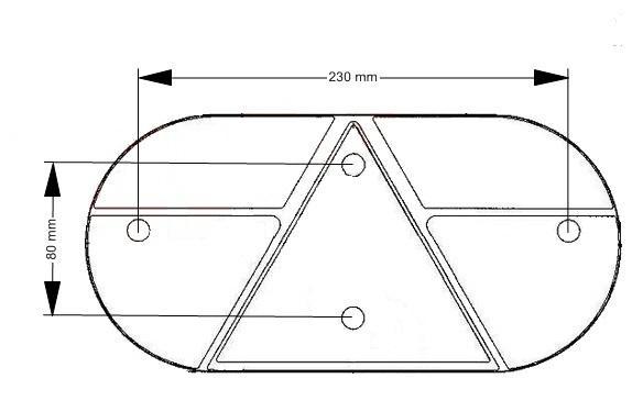 Kryt světla Jokon 610 (stejný L i P ),nákres 2