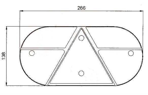Kryt světla Jokon 610 (stejný L i P ),nákres
