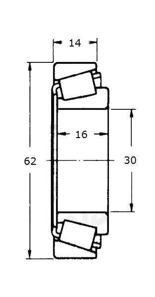 Ložisko kužel. vnitřní 30206, 30-62 mm