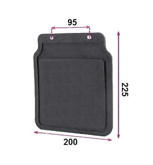Zástěrka DOMAR 225×200 mm DOMAR, rozměry