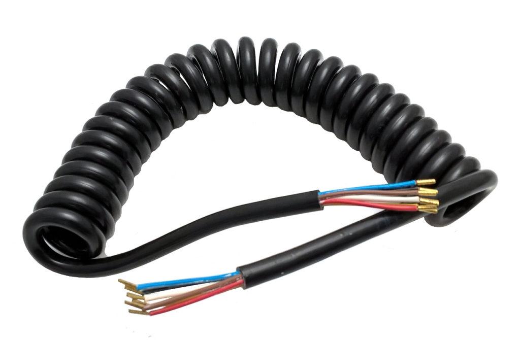 Kabel spirálový 8 žilový TESAT, 2,5m