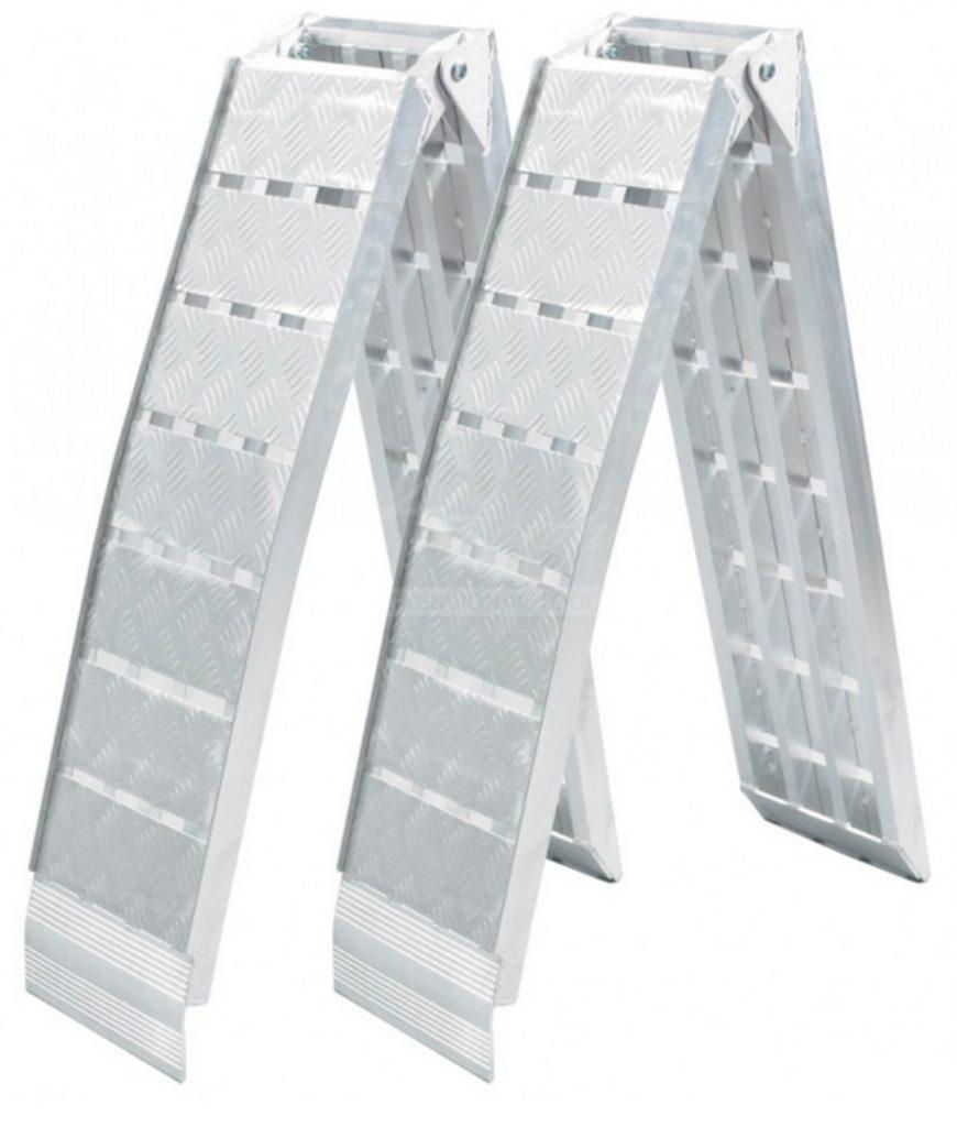 Nájezdy SKLÁDACÍ hliníkové , 1360 kg, pár – LR019, ( 2260×305 mm), obr. 1