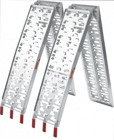 Nájezdy SKLÁDACÍ hliníkové , 680 kg pár – LR001, (2250×280 mm), obr. 1