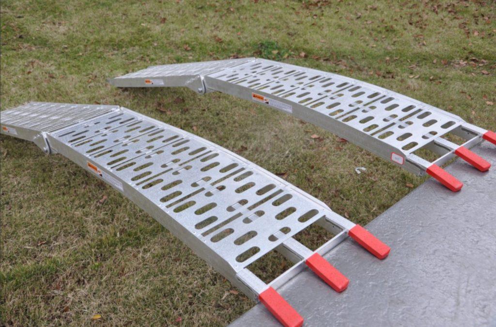 Nájezdy SKLÁDACÍ hliníkové , 680 kg pár – LR001, (2250×280 mm), obr. 4