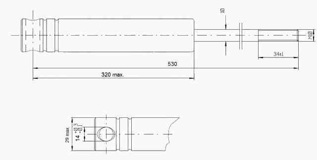 Tlumič nájezdové brzdy KNOTT KF 27 B (M14)