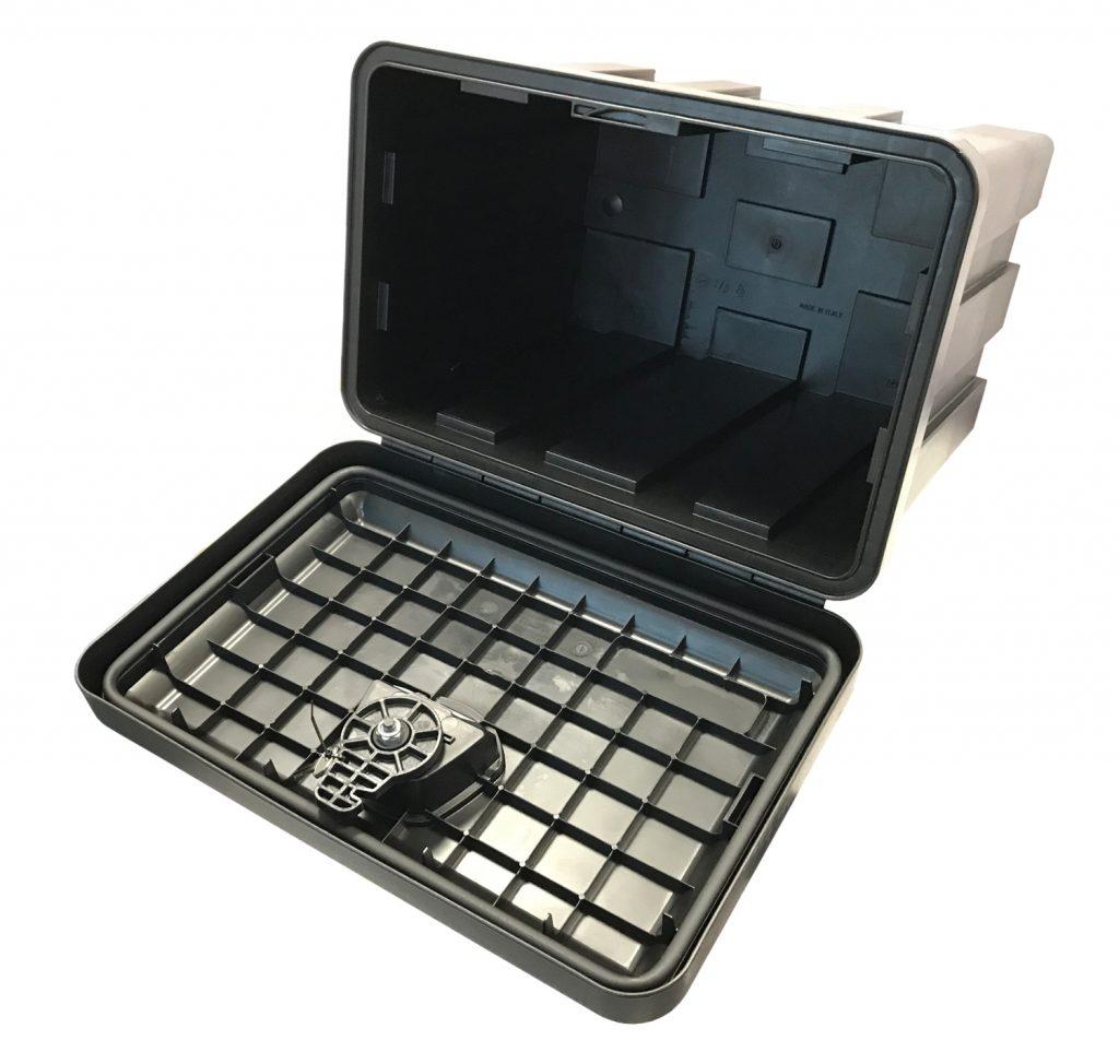 Box na nářadí JUST 500 500x350x400 mm, dva zámky (horní otvírání), obr. 2