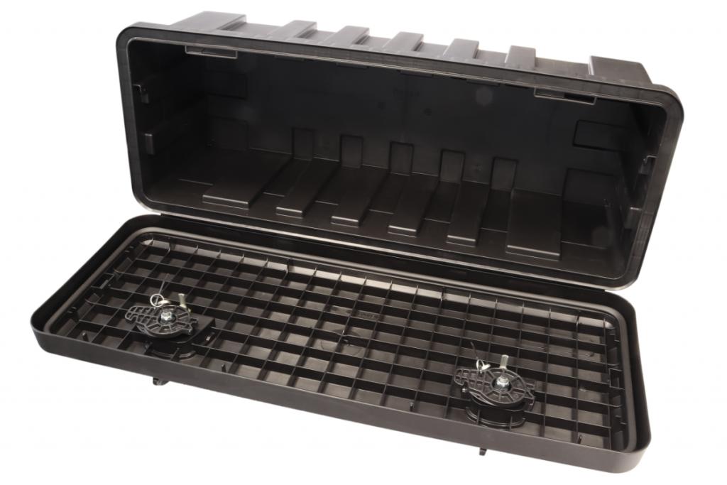 Box na nářadí JUST 900-R, 900x367x300 mm, dva zámky (horní otvírání), obr. 2