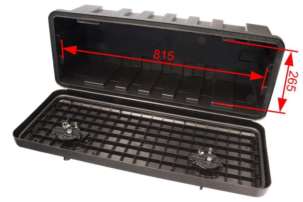 Box na nářadí JUST 900-R, 900x367x300 mm, dva zámky (horní otvírání), obr. 3