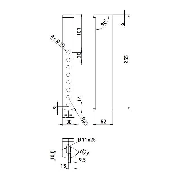 Držák boxů pro montáž podvěsem (sada pro 1 box), obr. 2