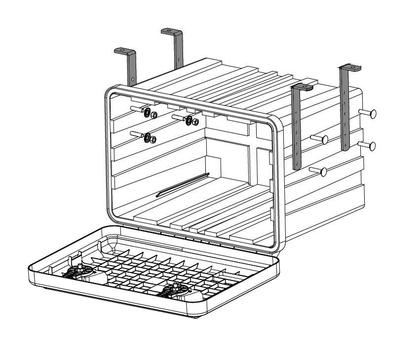 Držák boxů pro montáž podvěsem (sada pro 1 box), obr. 3