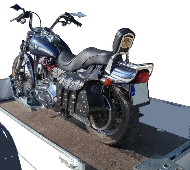 Držák motocyklu s automatickým zajištěním (krátký), délka 680 mm, šířka 190 mm, obr. 2